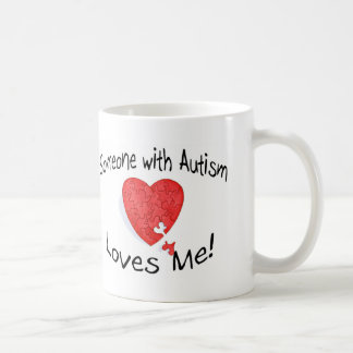 Someone With Autism Loves Me (P Hrt) Coffee Mug