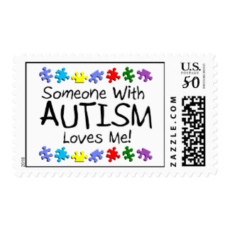 Someone With Autism Loves Me Postage