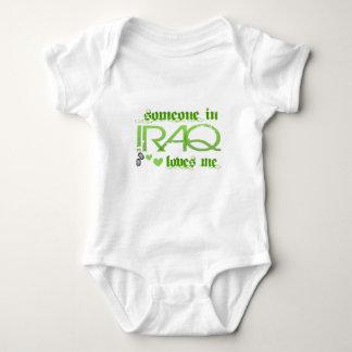 SOMEONEINIRAQGREEN BABY BODYSUIT