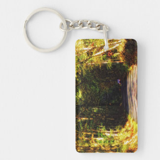 """""""Someone's Coming!"""" Double-Sided Rectangular Acrylic Keychain"""