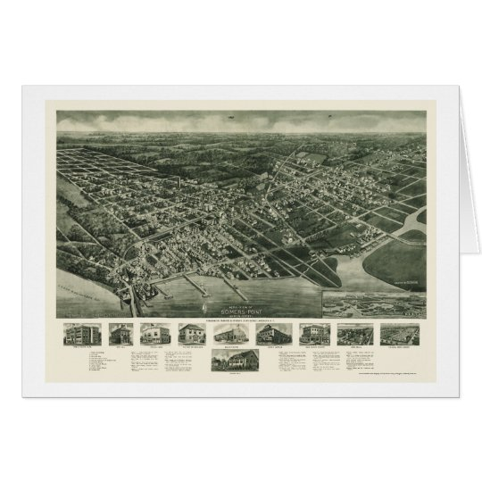 Somers-Point, NJ Panoramic Map - 1925 Card