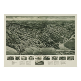 Somers-Point, NJ Panoramic Map - 1925 Poster