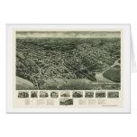 Somers-Punto, mapa panorámico de NJ - 1925 Tarjeta