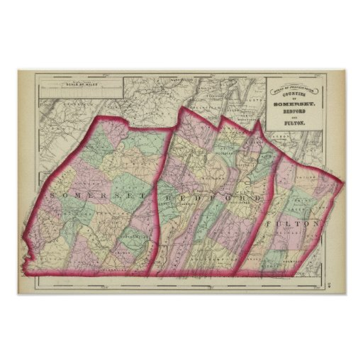 Somerset, Bedford, Fulton counties Poster