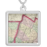Somerset, Bedford, Fulton counties Square Pendant Necklace