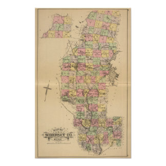 Somerset Co, Maine Print