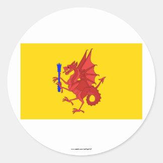 Somerset Flag Round Stickers