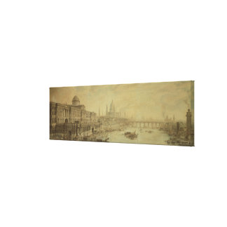 Somerset House, St. Paul's Cathedral and Blackfria Canvas Print