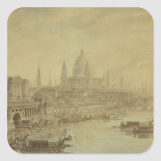 Somerset House, St. Paul's Cathedral and Blackfria Square Sticker