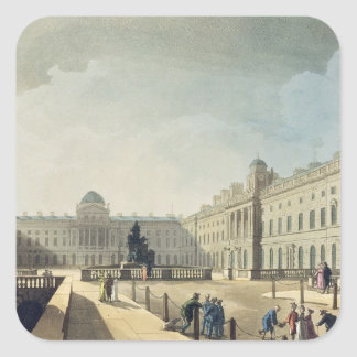 Somerset House, Strand, from 'Ackermann's Microcos Square Sticker