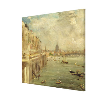 Somerset House Terrace from Waterloo Bridge, c.181 Canvas Print