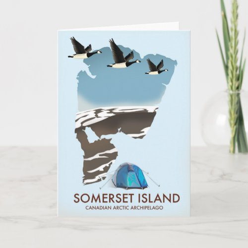 Somerset Island, Canada vintage style map