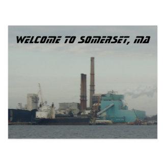 Somerset, MA Postcard