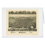 Somerset, PA Panoramic Map - 1900 Greeting Card