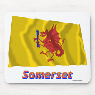 Somerset Waving Flag with Name Mouse Pad