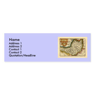 """Somersetshire"" Somerset County Map, England Mini Business Card"