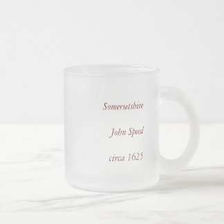 """Somersetshire"" Somerset County Map Frosted Glass Coffee Mug"