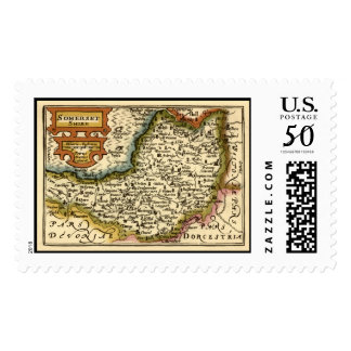 """""""Somersetshire"""" Somerset County Map Postage"""