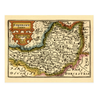 Somersetshire Somerset County Map Post Cards