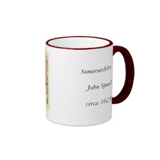 """Somersetshire"" Somerset County Map Ringer Mug"