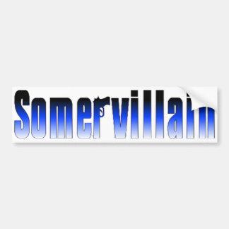 Somervillain Blue Bumper Sticker Car Bumper Sticker