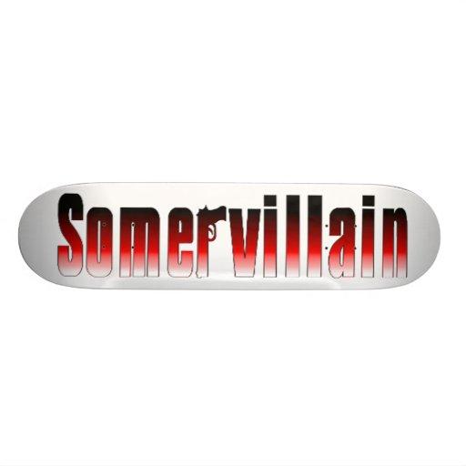 Somervillain Red Skateboard
