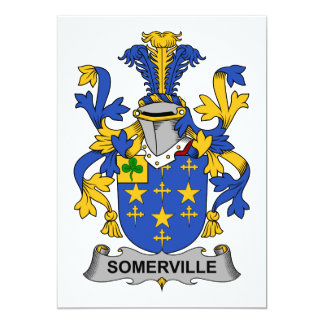 Somerville Family Crest 5x7 Paper Invitation Card