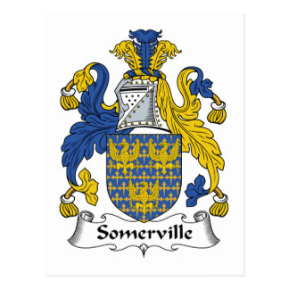 Somerville Family Crest Postcard
