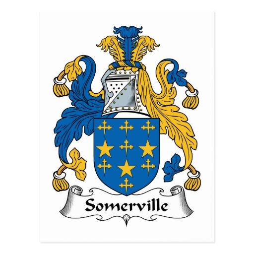 Somerville Family Crest Postcards