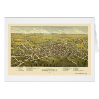 Somerville, NJ Panoramic Map - 1882 Card