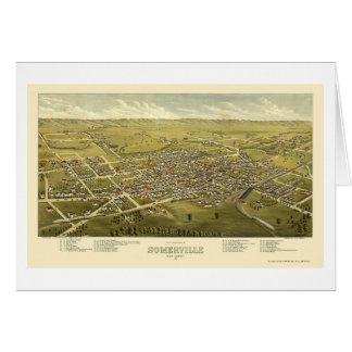 Somerville NJ Panoramic Map - 1882 Greeting Card