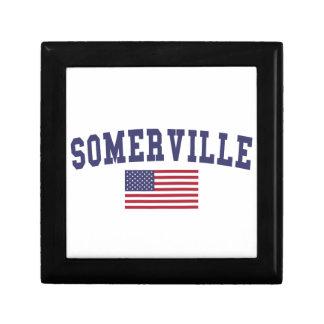 Somerville US Flag Keepsake Box