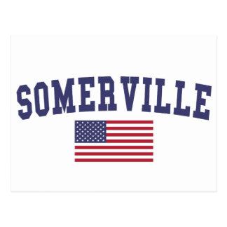 Somerville US Flag Postcard