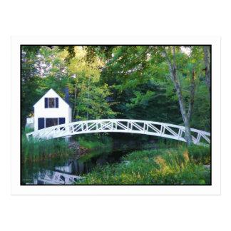 Somesville Footbridge Postcard