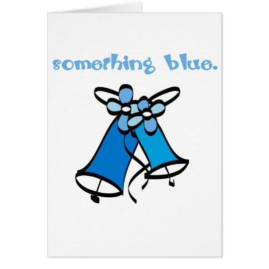 Something Blue Bridal Card