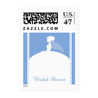 Something Blue Bridal Shower Postage Stamp