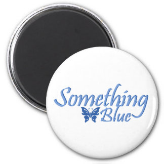 Something Blue Butterfly 2 Inch Round Magnet
