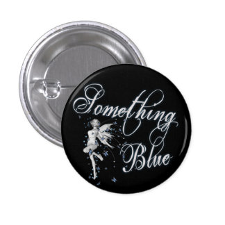 Something Blue Butterfly Fairy - Original 1 Inch Round Button