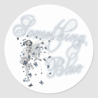 Something Blue Butterfly Fairy - Original Classic Round Sticker
