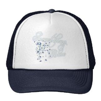 Something Blue Butterfly Fairy - Vintage Cyanotype Trucker Hat