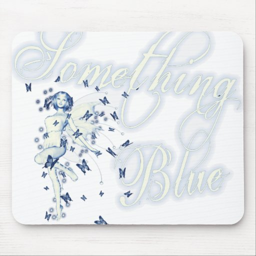 Something Blue Butterfly Fairy - Vintage Cyanotype Mouse Pad