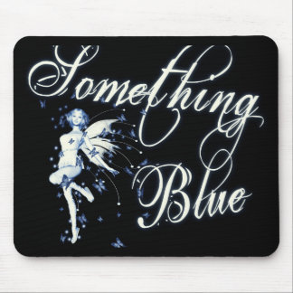 Something Blue Butterfly Fairy - Vintage Cyanotype Mouse Pads