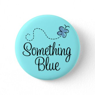 Something Blue Button for the Bride button
