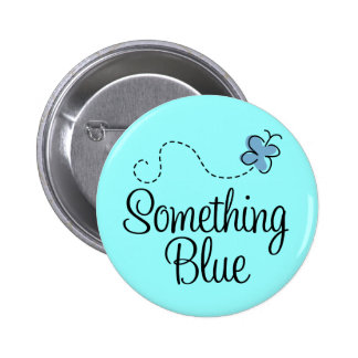 Something Blue Button for the Bride