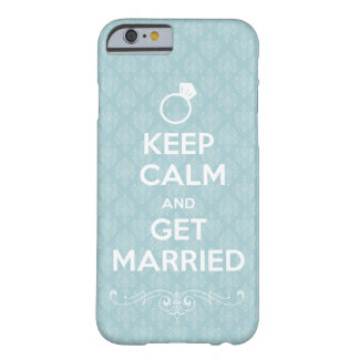 something blue, damask Keep Calm and Get Married Barely There iPhone 6 Case