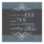 Something Blue Elegant Bridal Shower Invitation