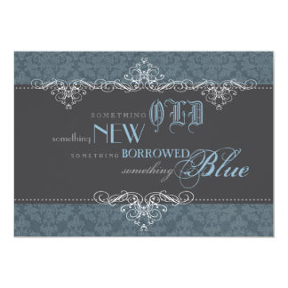 Something Blue Elegant Bridal Shower Invitation