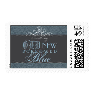 Something Blue Elegant Bridal Shower Postage