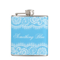 Something Blue for the Bride Personalize Flask