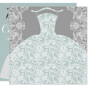 McTiffany Tiffany Aqua Something Blue Here Comes The Bride Party Card